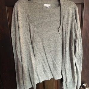 Heather Gray Button Up Cardigan Sweater
